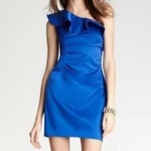 LAUNDRY BY SHELLI SEGAL One-Shoulder Dress